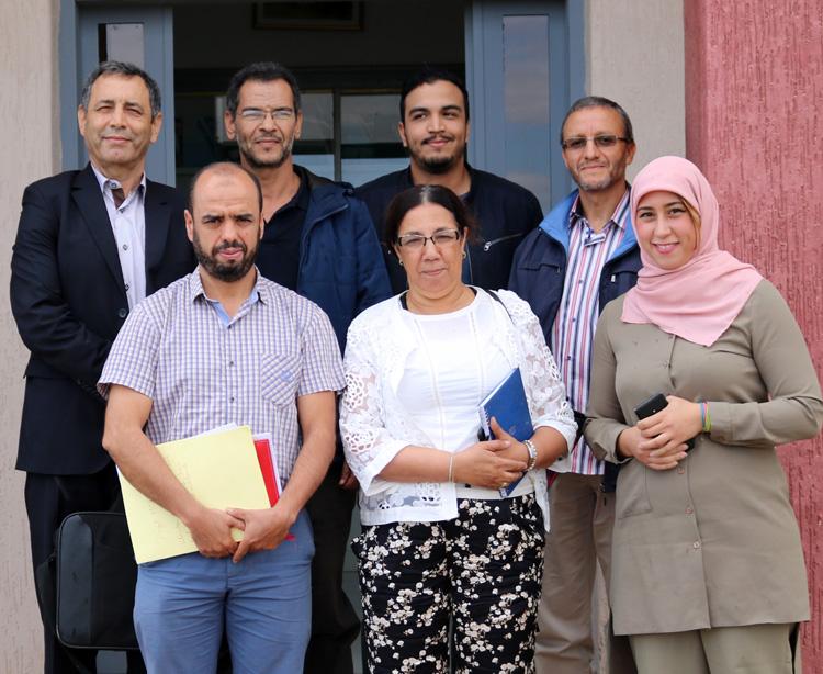 Equipe du projet (à partir de la gch en haut) : A. Ibrahimy1, M. El Fechtali2, L. Hssaïni2, N. Bahri2, A. Nabloussi2, H. Hanine3 et I. Guirrou2 (en plus de A. El Antari4 ; n'est pas sur la photo) 1: ENA Meknès – 2: INRA CRRA Meknès – 3: FST Beni Mellal – 4: INRA CRRA Marrakech.
